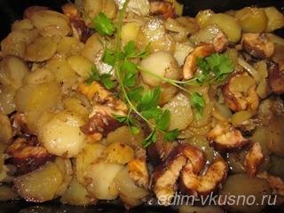 Стерлядь с картофелем