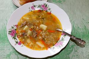 Рассольник с фасолью и беконом, пошаговый рецепт с фото